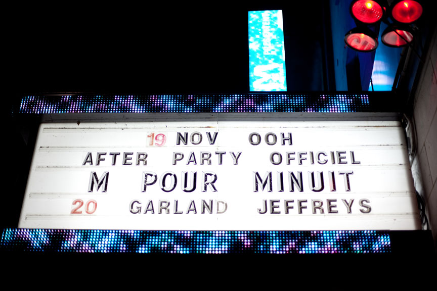 After-party M pour Montréal: Qualité Motel + Ariane Moffatt + Yann Perreau = win