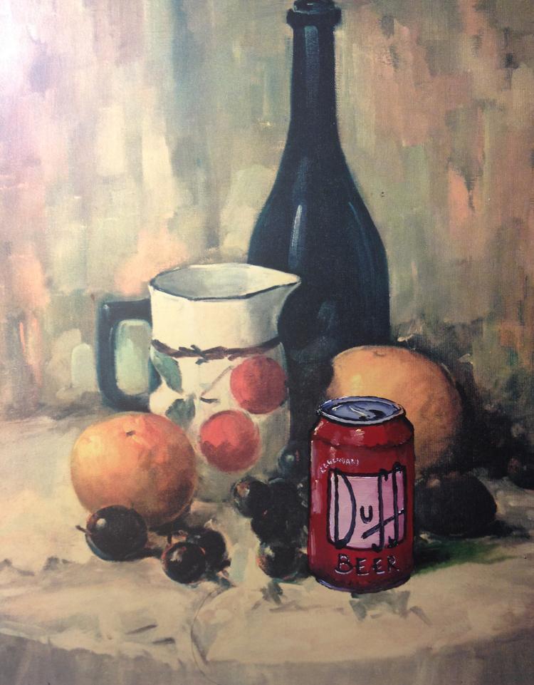 L'art de recycler avec humour des toiles trouvées dans les friperies !