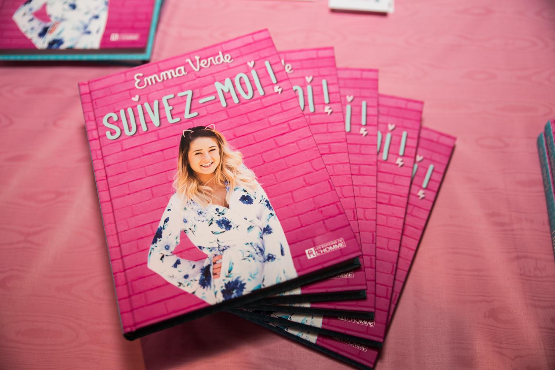 Lancement très GIRLY du premier livre de la YouTubeuse Emma Verde