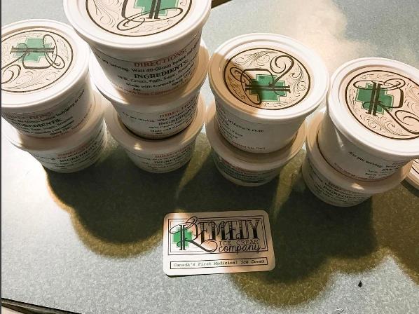 Tu peux te faire livrer de la crème glacée à la marijuana directement chez toi