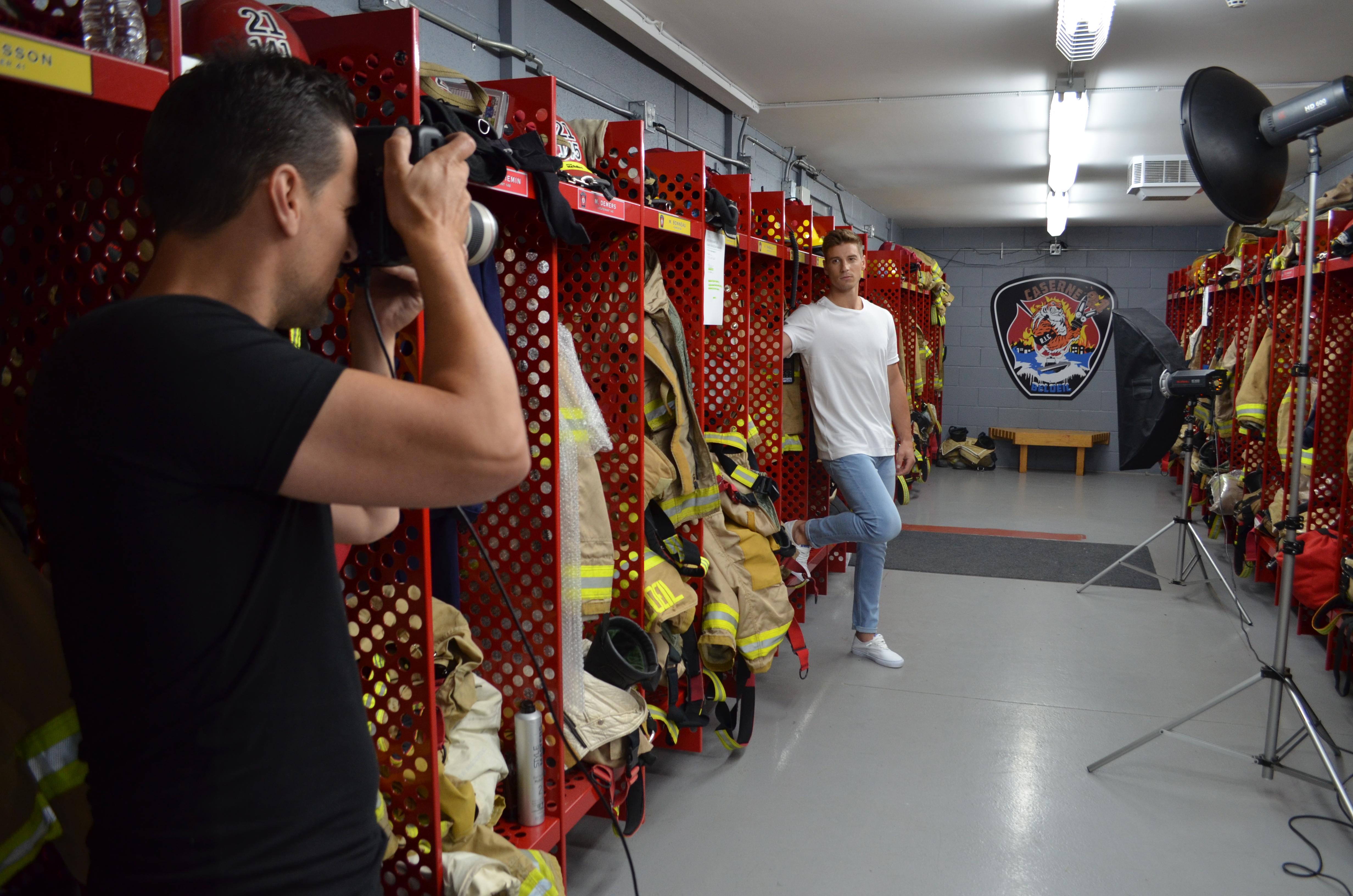 Calendrier des pompiers 2018: nos photos «behind the scenes» de la chaude séance