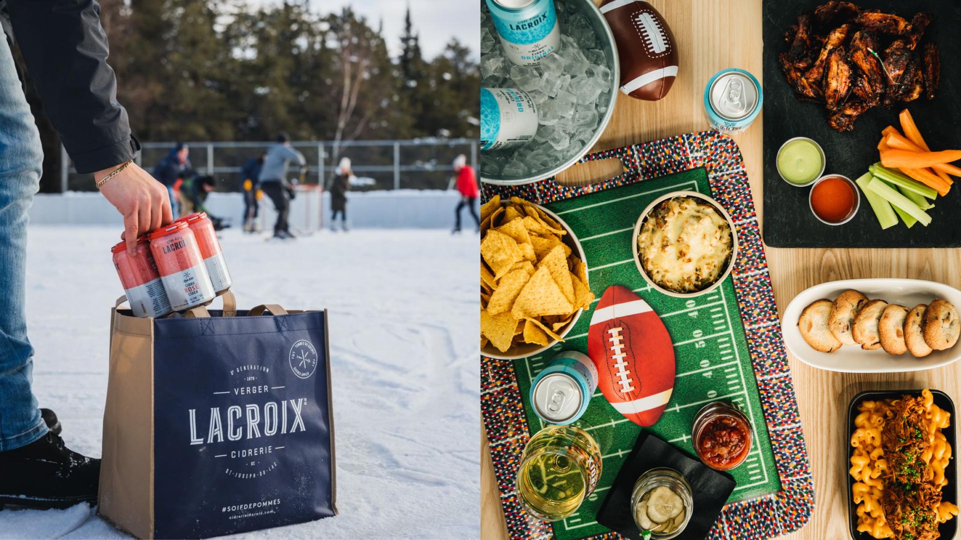 La Cidrerie Lacroix lance une boîte gourmande sportive parfaite pour manger devant le Super Bowl!