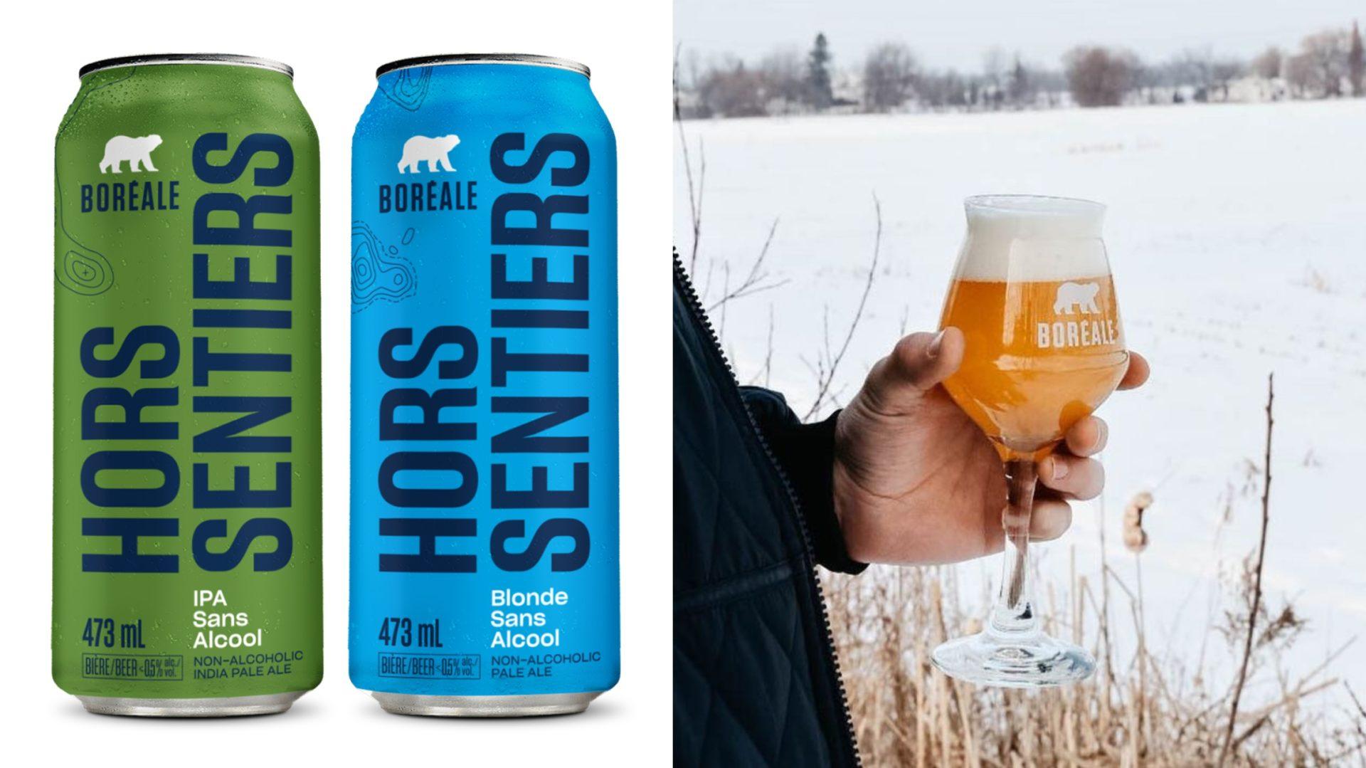 Hors Sentiers: la première gamme de bières sans alcool de Boréale!
