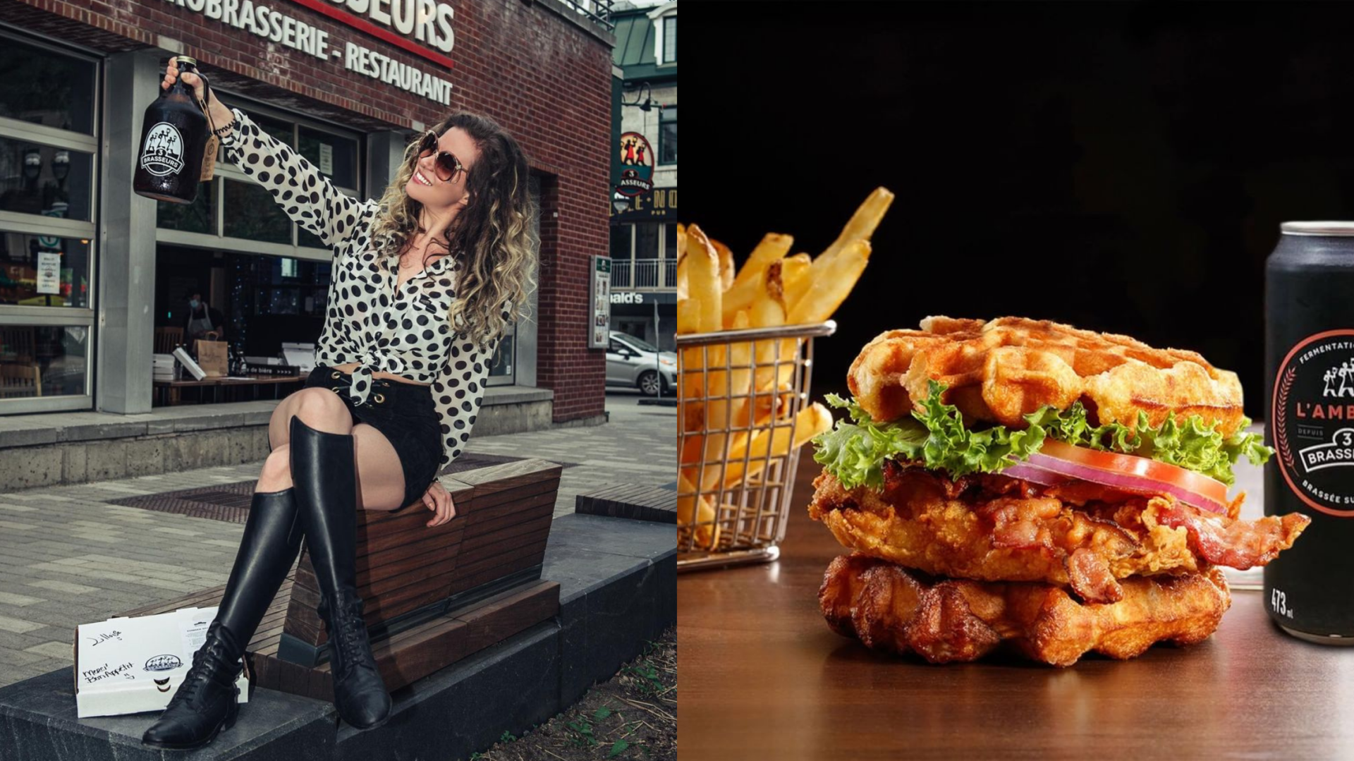 Les 3 Brasseurs lancent une promo qui vaut vraiment la peine sur leurs burgers et leurs bières!