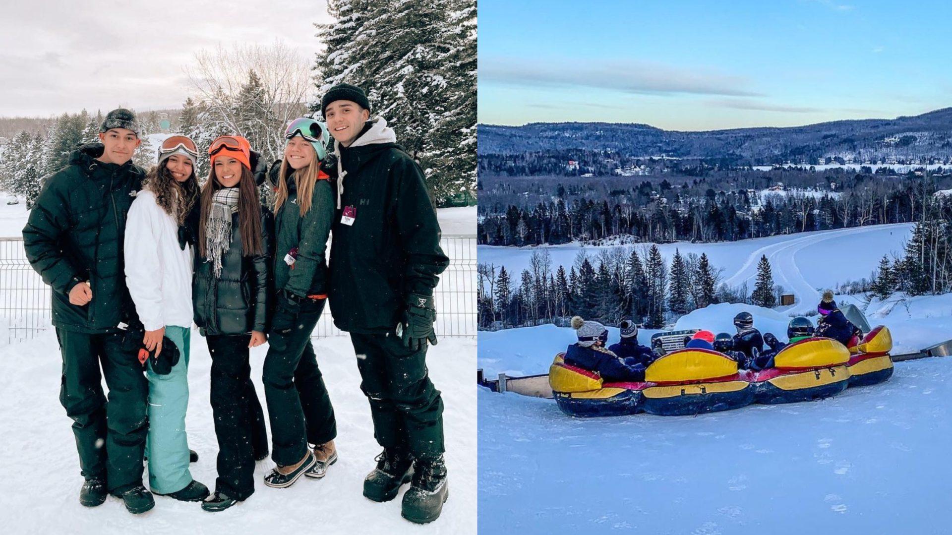 Cette montagne vous permet d'aller glisser et faire du rafting sur neige à 1h30 de route de Montréal!