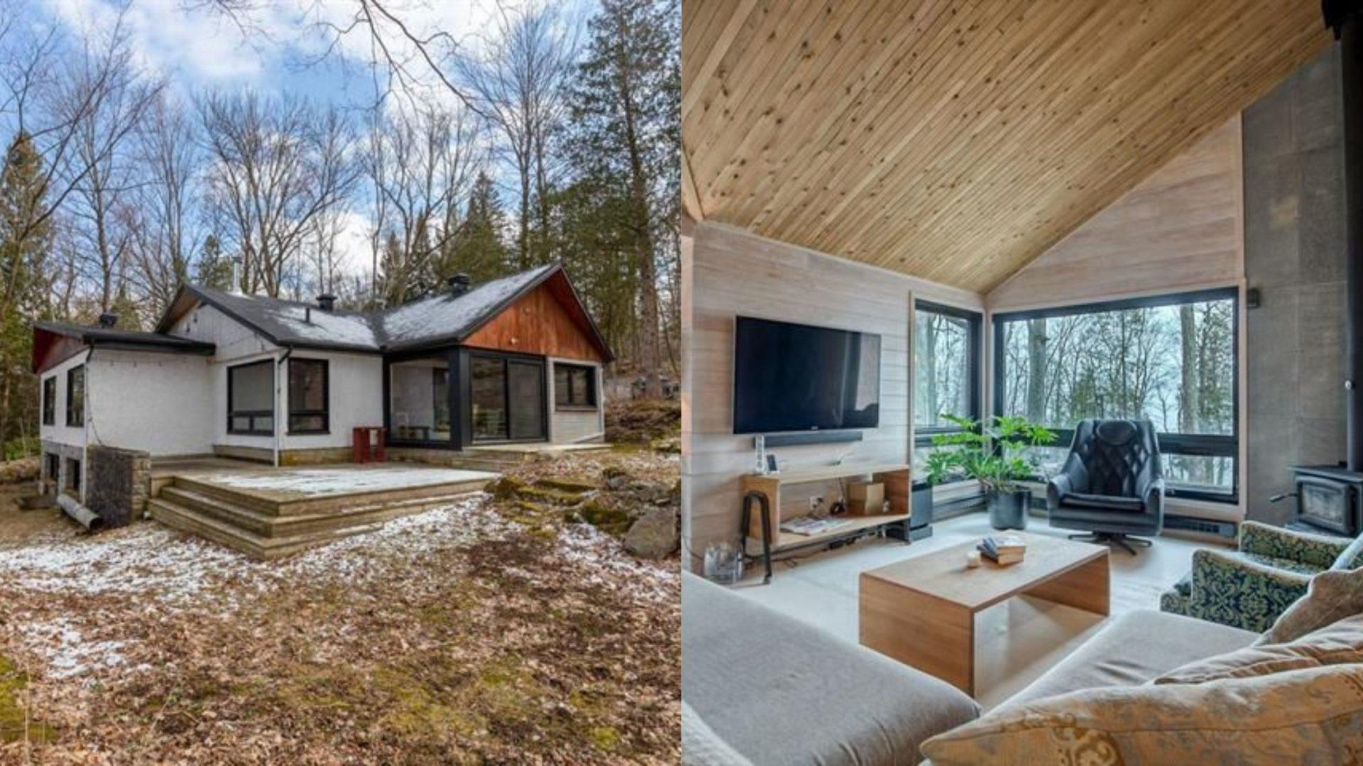 Coup de coeur pour le design moderne de cette superbe maison de Brome-Missisquoi! [PHOTOS]