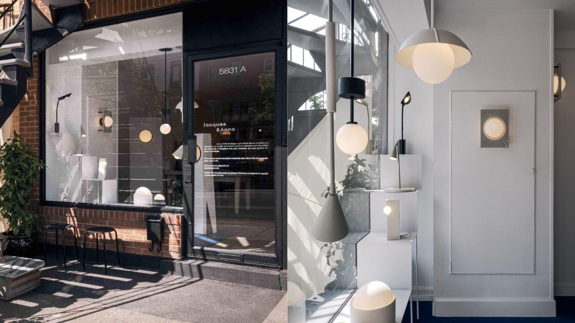 Le populaire studio de design de luminaires Jacques et Anna ouvre enfin sa propre boutique à Montréal! [PHOTOS]