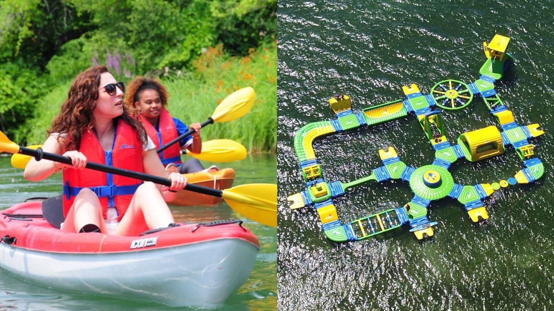 Cette entreprise québécoise vous propose plusieurs activités nautiques et d'aventure, avec 2 mégas parcours à obstacles flottants!